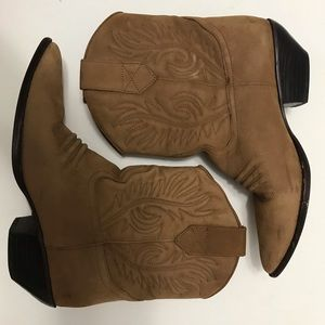 Sabree Brown Leather Boots Size 8